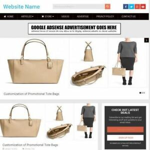Established Handbag Store Online Business Website For Sale Mobile Friendly