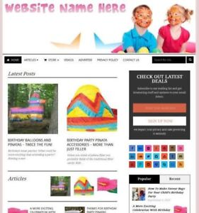 Established Party Supplies Store Online Business Website For Sale Free Domain