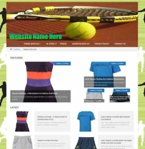 Established Tennis Store Online Business Website For Sale Free Domain