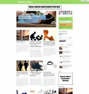 Exercise Store Business Website For Sale Mobile Friendly Responsive Design