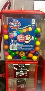 Northwestern Super 60 Gumball Machine Filled With Dubble Bubble 25 Cent Used