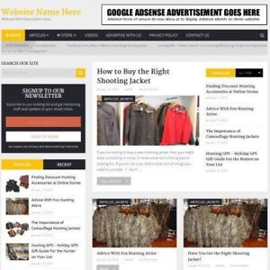 Hunting Store Professionally Designed Affiliate Website For Sale Domain