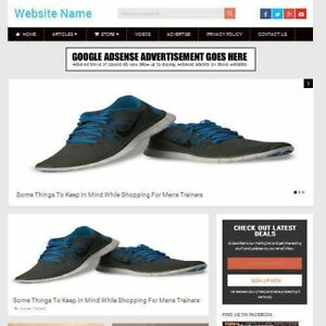 Mens Shoes Store Professionally Designed Affiliate Website For Sale Domain
