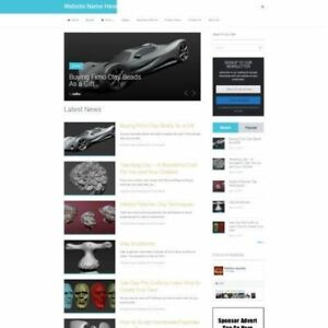 Sculpting Store Professionally Designed Affiliate Website For Sale Domain
