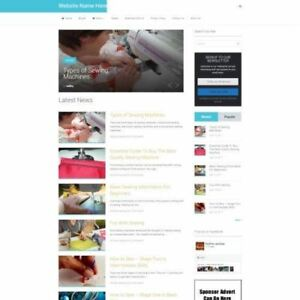 Sewing Store Business Website For Sale Mobile Friendly Responsive Design