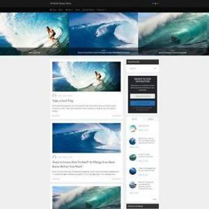 Surfing Store Business Website For Sale Mobile Friendly Responsive Design