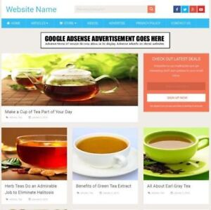Tea Store Established Online Business Website For Sale Mobile Friendly