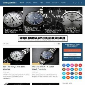 Watches Store Established Online Business Website For Sale Mobile Friendly