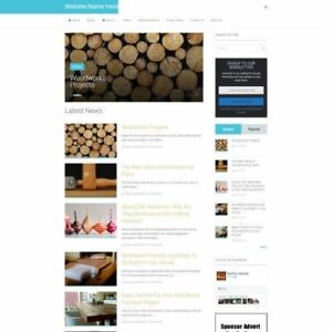 Woodcraft Store Mobile Friendly Responsive Website Business For Sale Domain