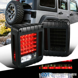 07 17 Jeep Wrangler Led Smoke Reverse Parking Tail Lights Rear Brake Turn Lamps