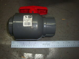 Spears Pvc Ball Valve Inline 2 Nos Free Shipping