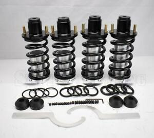 Black Adjustable Coilover Springs Extended Top Hat For 1994 2001 Acura Integra