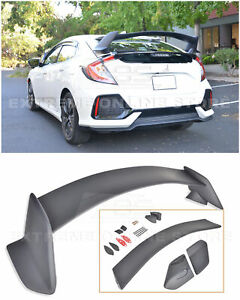 Type R Style Rear Trunk Wing Spoiler Body Kit For 16 up Honda Civic Hatchback