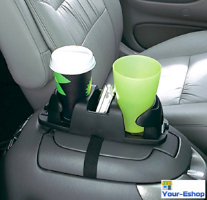 Car Accessories Cup Holder Seat Console Organizer Tray Rack Adjustable Universal