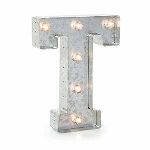 Darice Silver Metal Marquee Letter 9 875 T