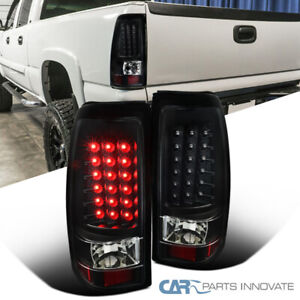 03 07 Chevy Silverado 04 07 Gmc Sierra Led Black Tail Lights Rear Brake Lamps