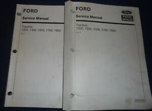 Ford New Holland 1200 1300 1500 1700 1900 Tractor Service Repair Manual 2 Vol