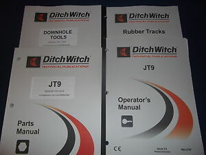 Ditch Witch Jt9 Directional Drill Parts Operation Maintenance Manual