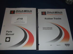 Ditch Witch Jt10 Directional Drill Parts Book Manual Catalog