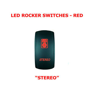 Universal Led Rocker Toggle Switch Red Stereo 5 Pin