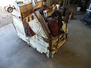 36 Miller Sturdi saw 65hp Wisconsin Gas Walk Behind Concrete Saw Only 610 Hours