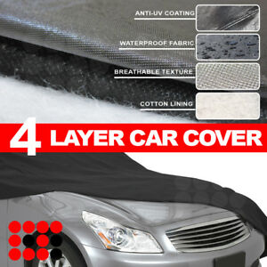 Outdoor Water Resistant Car Full Soft Cotton 4 Layer Cover Universal Fit