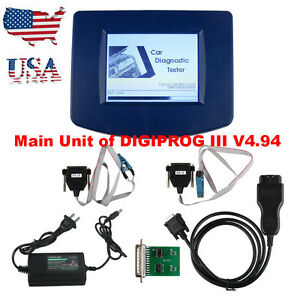New Digiprog Iii V4 94 Main Unit With Obd2 Cable St01 St04 Adapter Ship From Usa