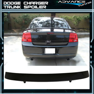 Fits 06 10 Dodge Charger Trunk Spoiler Painted Pxr Brilliant Black Pearl