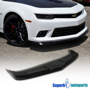 14 15 Chevy Camaro Ss Front Bumper Lip Spoiler Splitter Pp Black Replacement