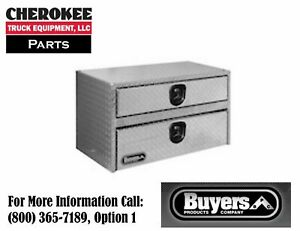 Buyers Products 1712200 Aluminum Underbody Toolbox 20 H X 18 D X 24 W