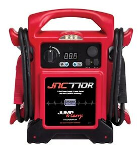 Jnc770r 1700 Amp 12v Jump Box Jump N Carry 68 Welding Cable W Led Light