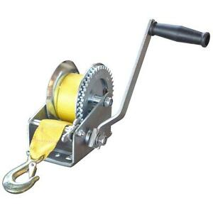 2500 Lb 2 X 20 Strap 10 Handle Manual Hand Winch Lifting Pulling Equipment