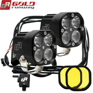 2pcs 40w Led Auxiliary Lamp Spot Driving Light For Motorcycle Bmw R1200gs K1600