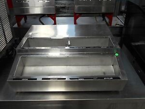 used Apw Wyott Rtr 8 Counter Top 8 Pan Refrigerated Condiment Topping Rail