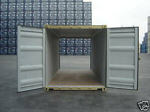 Storage Containers New 20 Dd doors On Both Ends Shipping Cargo Container