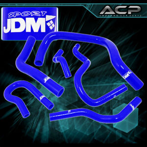 Silicone High Temp Coolant Radiator Hose Blue Honda Civic Ek Eg B16a B18c Typer