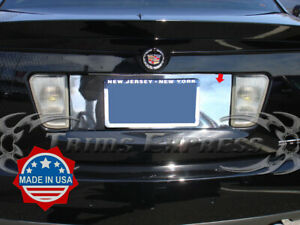 2005 2011 Cadillac Sts License Plate Trim Backdrop Bezel Accent Cover Stainless