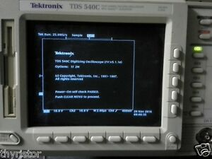 Tektronix Tds540c 500mhz 8 Megapoints opt 2m Dso Warranty Sampling Rate 2gs s