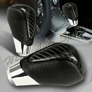 Real Carbon Fiber Pvc Leather Vip Type 2 Manual Mt Shift Shifter Knob Universal