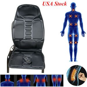 Safety Use Black Lumbar Back Support Massage Heat Cushion Car Seat Home Chair