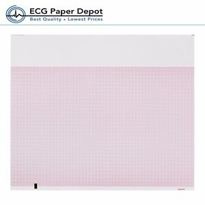 Welch Allyn Ecg Recording Paper Ekg Printing Chart 94018 0000 Red Z fold 5 Pack