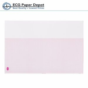 Hp philips Ecg Red Grid Paper Ekg Printing Chart M1707a Z fold Sheet 10pack