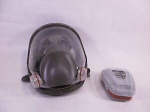 Paint Spray Respirator Large Mask Full Face Fa see Description