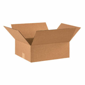 100 15x10x5 Cardboard Shipping Boxes Flat Corrugated Cartons