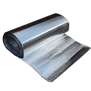 47 X 100 Double Foil Aluminum Mylar Bubble Ir Blocker 3 16 Thickness