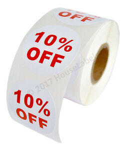 100 Rolls Of 10 Off Discount Labels 500 Labels roll 2 5 Diameter Bpa Free