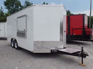 Concession Trailer 8 5 X 16 White Food Event Catering Elite