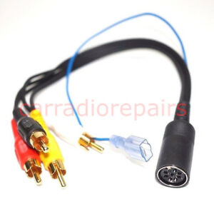 Blaupunkt Female 8 Pin Din To 4 Male Rca For Porsche Mercedes And Bmw