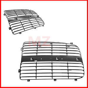 For 02 05 Dodge Ram 2 Pieces Chrome Plastic Grille Grill Trim Insert