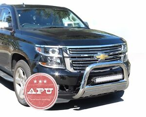 Apu Fits 15 18 Chevy Tahoe Bull Push Bar Stainless Bumper Grille Guard Protector